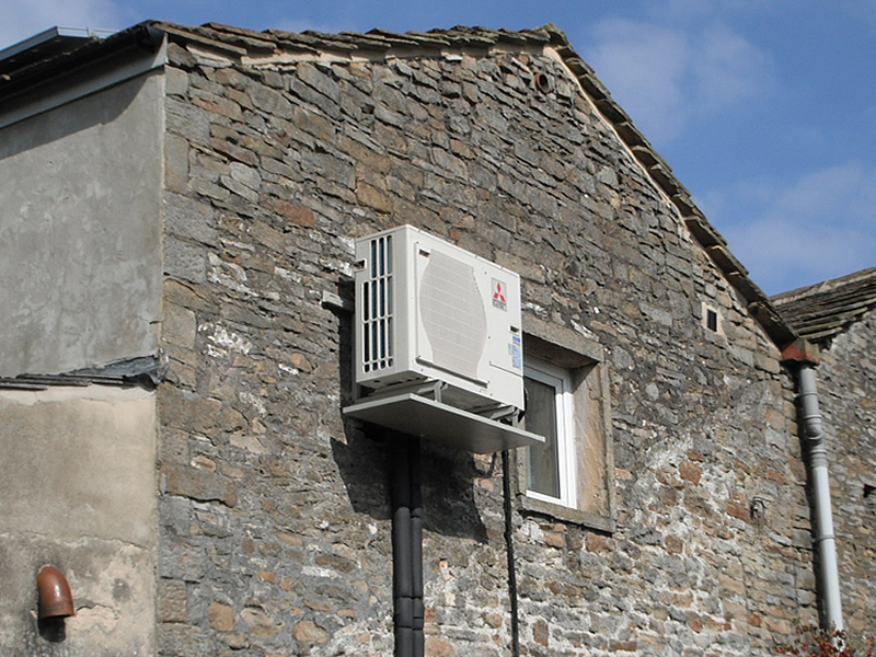 Solar and heat pump central heating system gallery for In wall heating system