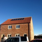 Small solar pv system on a house in York