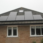 All black panels on a bungalow in Harrogate.
